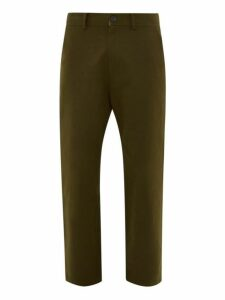 Studio Nicholson - Bill Cropped Cotton Twill Trousers - Mens - Khaki