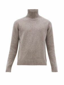 Studio Nicholson - High Neck Marled Wool Sweater - Mens - Light Brown