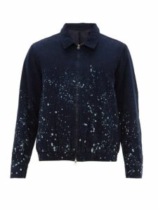 Saturdays Nyc - Harrison Bleach Spray Cotton Corduroy Jacket - Mens - Navy