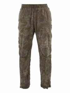 1017 Alyx 9sm - Quantum Camouflage Print Technical Trousers - Mens - Green Multi