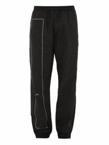 A-cold-wall* - Rectangle Print Shell Track Pants - Mens - Black