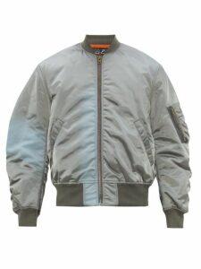 Martine Rose - Gradient Ma 1 Bomber Jacket - Mens - Grey