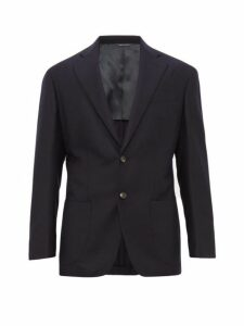 Thom Sweeney - Single Breasted Wool Blend Jacket - Mens - Navy