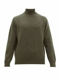 Thom Sweeney - Wool Blend High Neck Sweater - Mens - Green