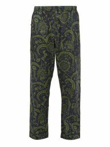 Desmond & Dempsey - Zocolo Floral Print Cotton Pyjama Trousers - Mens - Green