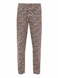 Zimmerli - Light Magic Floral Print Pyjama Trousers - Mens - Brown Multi