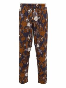 Zimmerli - Light Magic Floral Print Cotton Pyjama Trousers - Mens - Navy Multi