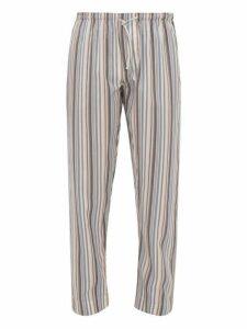 Zimmerli - Striped Poplin Pyjama Trousers - Mens - Multi