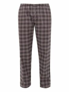 Zimmerli - Light Magic Tartan Cotton Pyjama Trousers - Mens - Grey