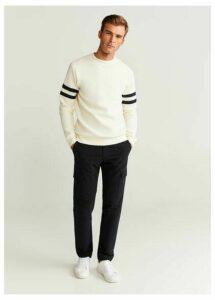 Structured striped sweatshirt