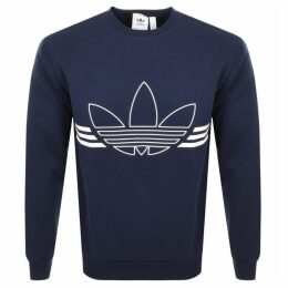 adidas Originals Outline Logo Sweatshirt Navy