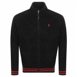 Ralph Lauren Fleece Track Jacket Black