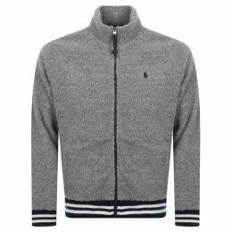 Ralph Lauren Fleece Track Jacket Grey