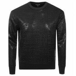 Michael Kors Crew Neck Logo Sweatshirt Black