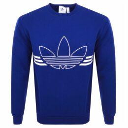adidas Originals Outline Logo Sweatshirt Blue