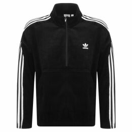 adidas Originals Cord Half Zip Sweatshirt Black