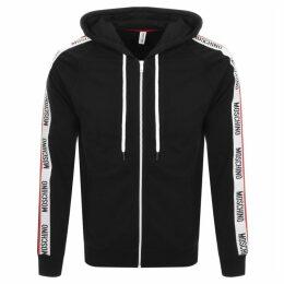 Moschino Full Zip Logo Hoodie Black