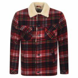 Nudie Jeans Lenny Plaid Jacket Red