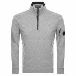 CP Company Half Zip Sweatshirt Grey