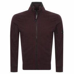 CP Company Full Zip Sweatshirt Burgundy