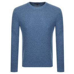 Michael Kors Crew Neck Knit Sweatshirt Blue
