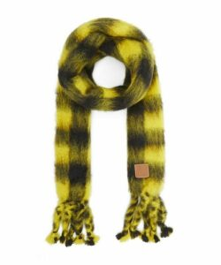 Mohair-Blend Check Scarf