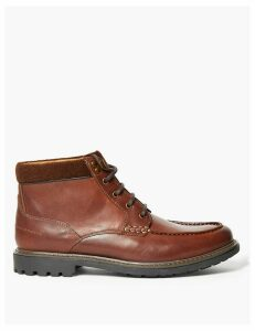 M&S Collection Leather Lace-up Casual Boots