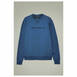 Jack Wills Rainford Flocked Graphic Crew