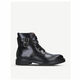 Cade leather biker boots