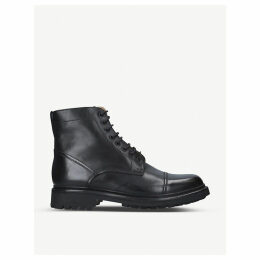 Joseph military-style leather Derby boots