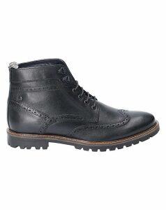 Base London Bower Waxy Lace Up Boot