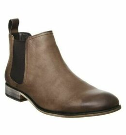 Office Barkley Chelsea Boot BROWN WAXY LEATHER