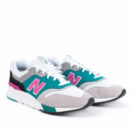 997H Trainer in White/Teal/Pink