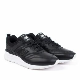 997H Trainer in Black/White Leather