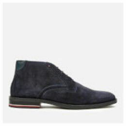 Tommy Hilfiger Men's Signature Hilfiger Suede Desert Boots - Midnight - UK 11 - Blue