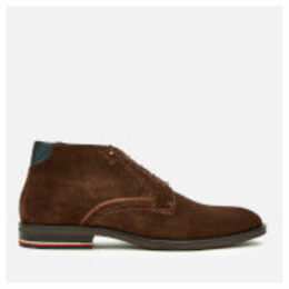 Tommy Hilfiger Men's Signature Hilfiger Suede Desert Boots - Coffee Bean - UK 8 - Brown