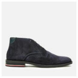 Tommy Hilfiger Men's Signature Hilfiger Suede Desert Boots - Midnight - UK 11 - Blue