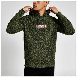 Mens River Island Levi's Khaki camo logo hoodie