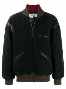 JC de Castelbajac Pre-Owned diamond quilted bomber jacket - Black