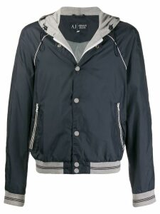 Giorgio Armani Pre-Owned 1990s hooded lightweight jacket - Blue