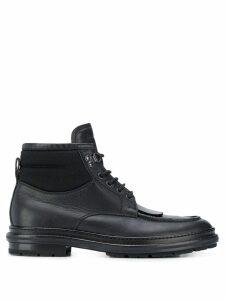 Ermenegildo Zegna flat lace-up boots - Black