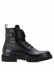 Valentino Valentino Garavani VLOGO combat boots - Black