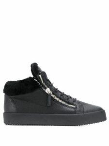 Giuseppe Zanotti Kriss sherpa lined hi-top sneakers - Black
