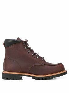 Red Wing Shoes Sawmill lace-up combat boots - Brown
