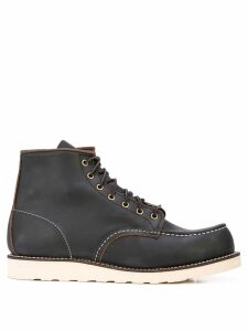 Red Wing Shoes contrast stitching combat boots - Brown