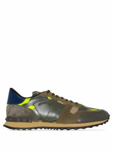 Valentino Garavani Rockrunner leather camouflage print sneakers -