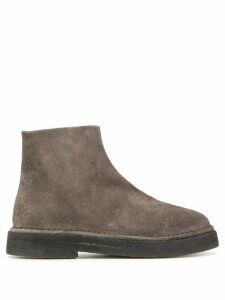 Marsèll textured round toe boots - Grey