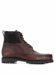 Holland & Holland lace up ankle boots - Brown