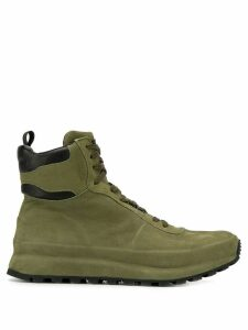Officine Creative flat lace-up boots - Green