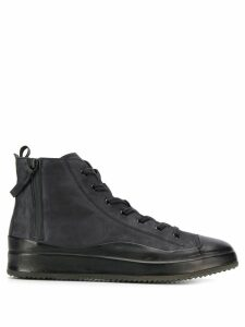 Officine Creative flat lace-up boots - Black